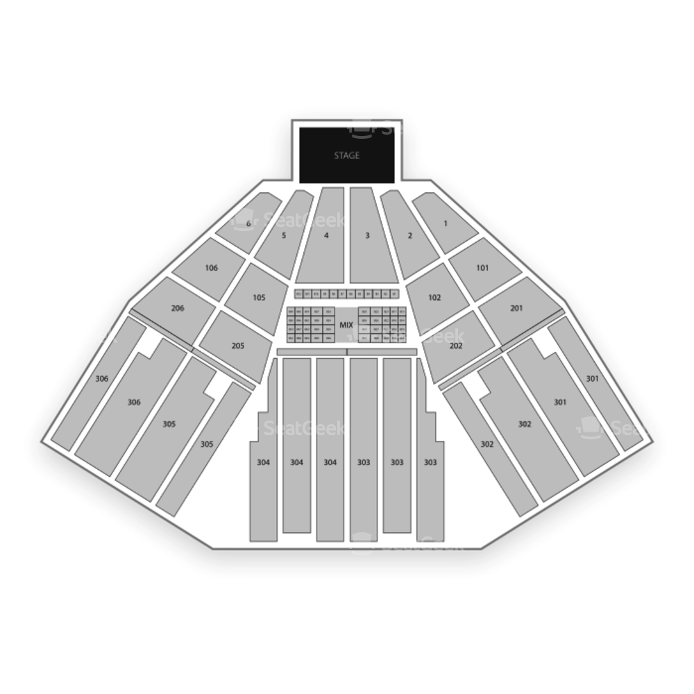 FivePoint Amphitheatre Seating Chart Concert