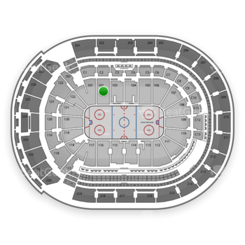 Columbus Blue Jackets at Nationwide Arena Section 102 View