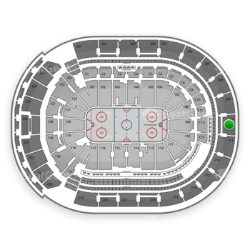 Columbus Blue Jackets at Nationwide Arena Section 210 View