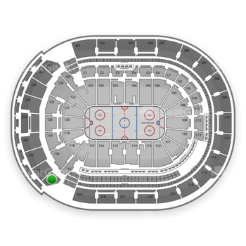 Columbus Blue Jackets at Nationwide Arena Section 220 View