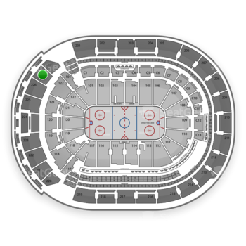Columbus Blue Jackets at Nationwide Arena Section 227 View