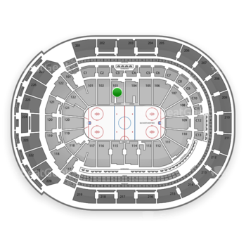 Columbus Blue Jackets at Nationwide Arena Section 103 View