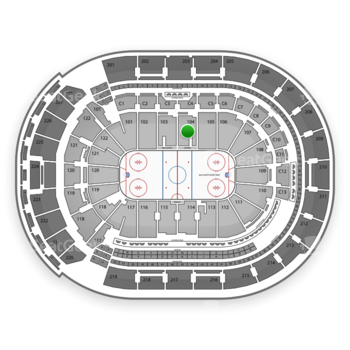 Columbus Blue Jackets at Nationwide Arena Section 104 View