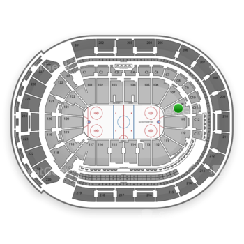 Columbus Blue Jackets at Nationwide Arena Section 108 View