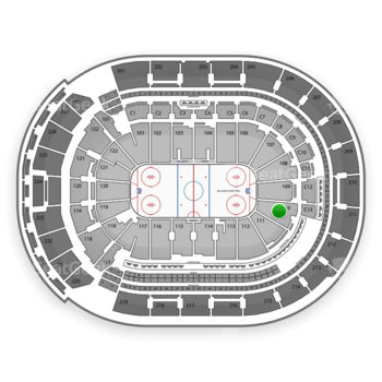 Columbus Blue Jackets at Nationwide Arena Section 110 View