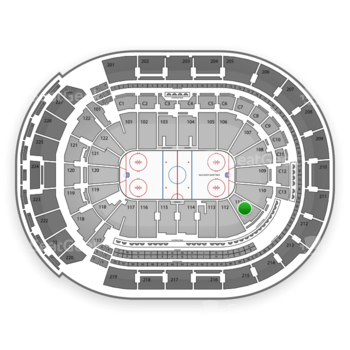 Columbus Blue Jackets at Nationwide Arena Section 111 View
