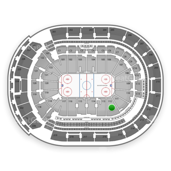 Columbus Blue Jackets at Nationwide Arena Section 112 View