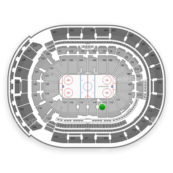 Columbus Blue Jackets at Nationwide Arena Section 113 View