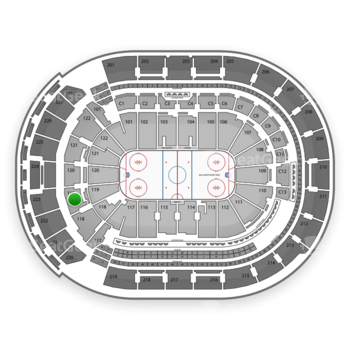 Columbus Blue Jackets at Nationwide Arena Section 119 View