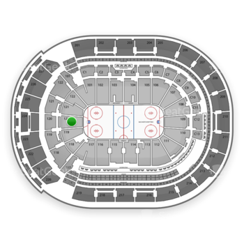Columbus Blue Jackets at Nationwide Arena Section 120 View