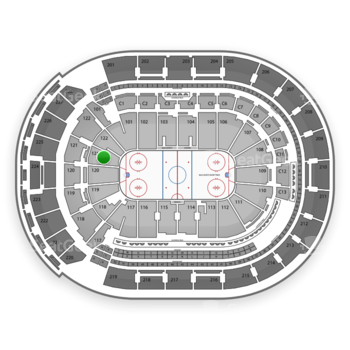 Columbus Blue Jackets at Nationwide Arena Section 121 View