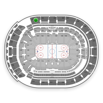 Columbus Blue Jackets at Nationwide Arena Section 201 View