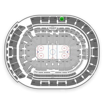 Columbus Blue Jackets at Nationwide Arena Section 204 View