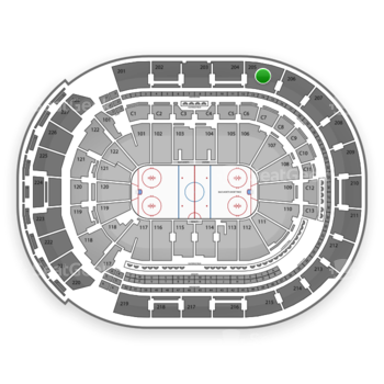 Columbus Blue Jackets at Nationwide Arena Section 205 View