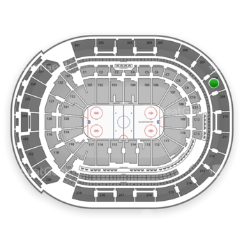 Columbus Blue Jackets at Nationwide Arena Section 208 View