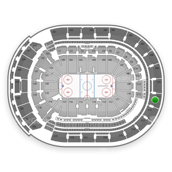 Columbus Blue Jackets at Nationwide Arena Section 211 View