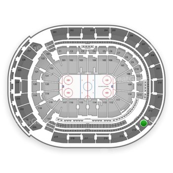 Columbus Blue Jackets at Nationwide Arena Section 213 View