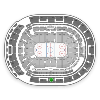 Columbus Blue Jackets at Nationwide Arena Section 217 View