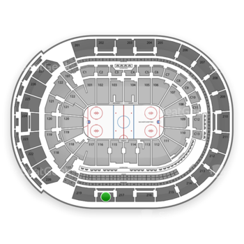 Columbus Blue Jackets at Nationwide Arena Section 218 View
