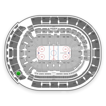 Columbus Blue Jackets at Nationwide Arena Section 221 View