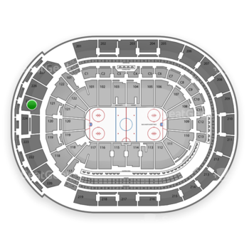 Columbus Blue Jackets at Nationwide Arena Section 225 View