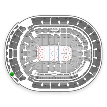 Columbus Blue Jackets at Nationwide Arena Section 302 View