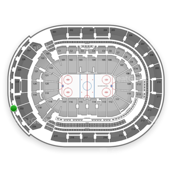 Columbus Blue Jackets at Nationwide Arena Section 303 View