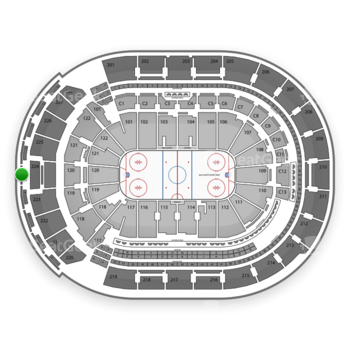 Columbus Blue Jackets at Nationwide Arena Section 305 View