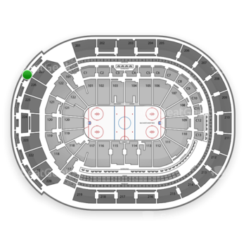 Columbus Blue Jackets at Nationwide Arena Section 308 View