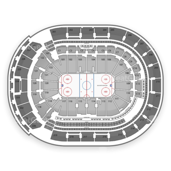 Columbus Blue Jackets at Nationwide Arena C 3 View
