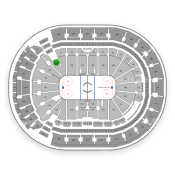 Columbus Blue Jackets at Nationwide Arena Section 101 View