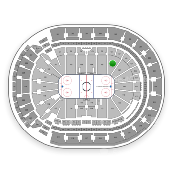 Columbus Blue Jackets at Nationwide Arena Section 106 View