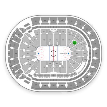 Columbus Blue Jackets at Nationwide Arena Section 107 View