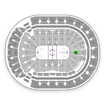 Columbus Blue Jackets at Nationwide Arena Section 109 View