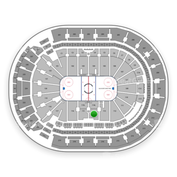 Columbus Blue Jackets at Nationwide Arena Section 114 View