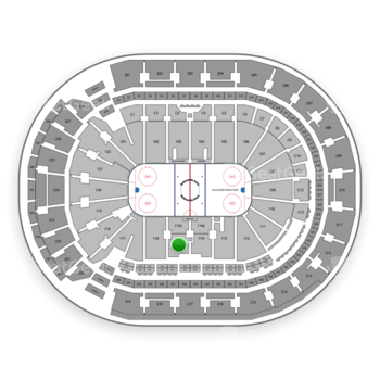 Columbus Blue Jackets at Nationwide Arena Section 115 View