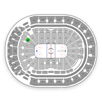 Columbus Blue Jackets at Nationwide Arena Section 122 View