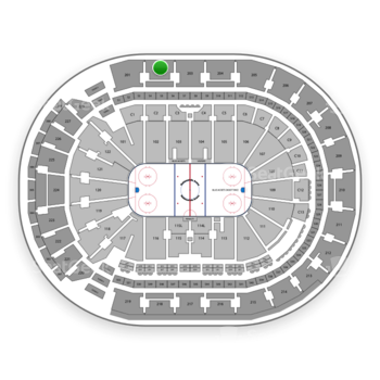 Columbus Blue Jackets at Nationwide Arena Section 202 View