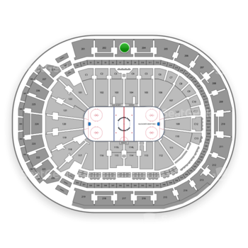 Columbus Blue Jackets at Nationwide Arena Section 203 View