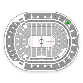Columbus Blue Jackets at Nationwide Arena Section 207 View