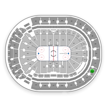 Columbus Blue Jackets at Nationwide Arena Section 212 View
