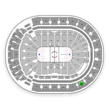 Columbus Blue Jackets at Nationwide Arena Section 214 View