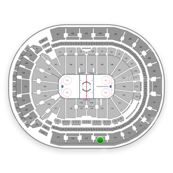 Columbus Blue Jackets at Nationwide Arena Section 216 View