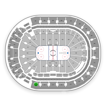 Columbus Blue Jackets at Nationwide Arena Section 219 View