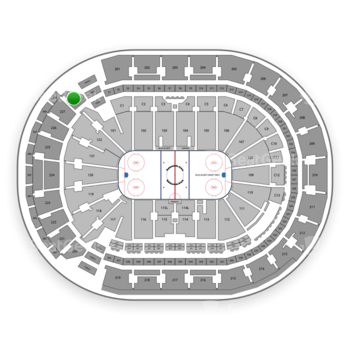 Columbus Blue Jackets at Nationwide Arena Section 228 View
