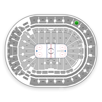 Columbus Blue Jackets at Nationwide Arena Section 206 View