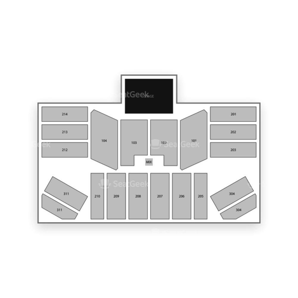 Hard Rock Live at Etess Arena Seating Chart Concert
