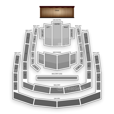 The Ordway Center for the Performing Arts seating chart Broadway Songbook