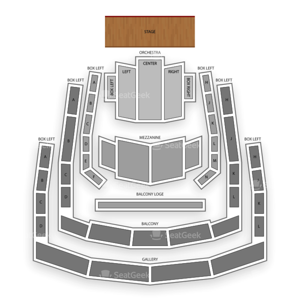 Ordway Center for the Performing Arts Seating Chart Classical Opera