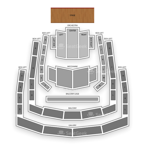 Ordway Center for the Performing Arts Seating Chart Concert